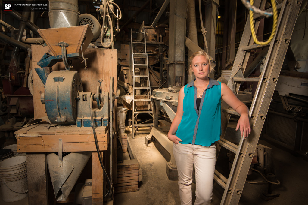 Nicole inside the mill